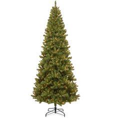 Trim A Home® 9' Pre-Lit Kingston Slim Spruce Tree
