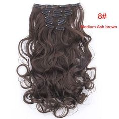 Material : Japan hightemperaturefiber Length : 20inch 50cmWeight : 120g(include clips) Color : Multicolor Hair Extension type : Full head hair Model number : 999 Item per package : 7Piece/set 1 pcs - 8 inch piece ( for the back of the head ) with 4 clips 2 pcs - 5 inch pieces ( for the back of the head ) with 3 clips 2 pcs - 3 inch pieces ( for the sides of the head ) with 2 clips 2 pcs - 1.5 inch pieces ( for the sides of the head ) with 1 clip Colored Hair Extensions, Clip In Hair Extensions, Long Curly, Hair Pieces, Hair Clips, Modeling, Curls, Hair Color, Long Hair Styles