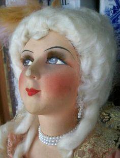 Boudoir Doll Original French Silk Face Vintage Antique Restoration | eBay