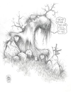 """#DailySketch """"Nor would I tell a WIZARD if I had."""""""