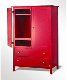 Kylie Red Armoire - Overstock™ Shopping - Great Deals on Entertainment Centers