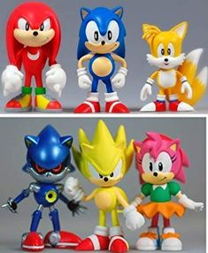 First 4 Figures Sonic The Hedgehog Mini Figure 6 Pack Collection Sonic Birthday Parties, Sonic Party, Baby Birthday, Sonic The Hedgehog, Sonic Dash, Vinyl Figures, Sonic Figures, Hedgehog Birthday, Nerd Room