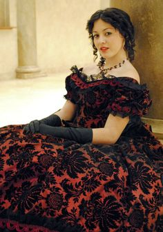 gorgeous fabric for civil war ball gown