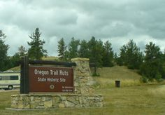 The Oregon Trail Ruts State Historic Site at Guernsey, Wyoming. Photo by Anita Mae Draper, September 21st, 2009.