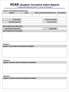 Corrective  Preventive Action Plan Form  Micro