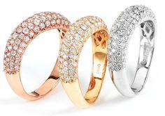 0.90 ctw 18k White Gold Round Brilliant Diamond Wedding Band