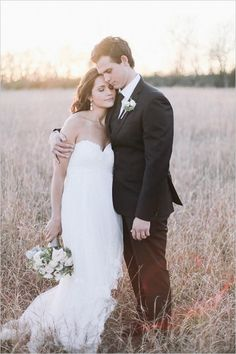 Adorable bride and groom moment.