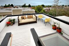 Would love it if part of my roof on my dream home could have a space like this for rooftop brunch or dinner parties.