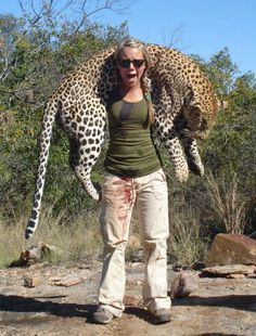 What of the offspring of this mighty cat , no trophy is worth the death of such an animal for sport !