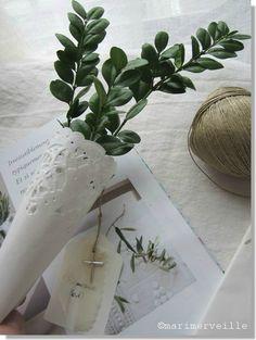 """09.04.2017 """"mon bouquet de branches d'olivier pour les Rameaux ..... bonne journée à tout le monde """""""