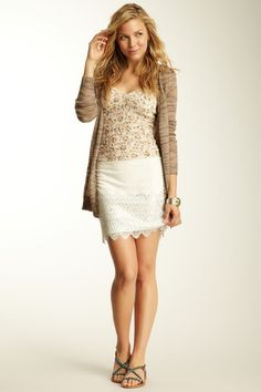 Lovely In Lace Mini Skirt {free people}