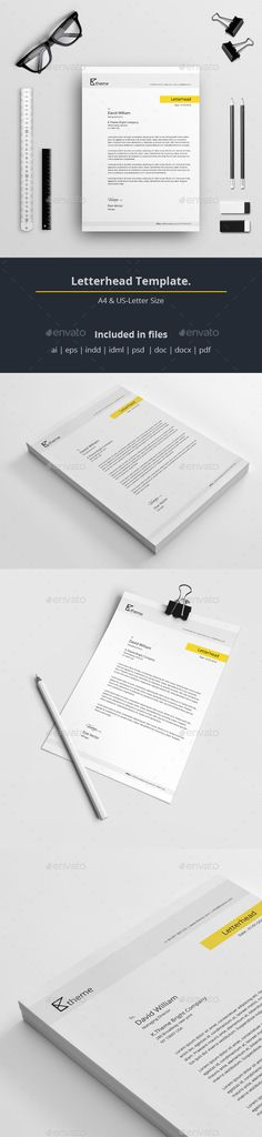 13 best professional letterhead images on pinterest corporate letterhead template a sharp and professional letterhead template for creative businesses created in adobe illustrator altavistaventures Image collections