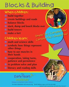 The Early Years Institute shares what children learn while playing with blocks!