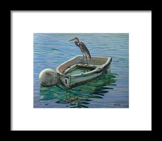 Capt. G. B. Heron Framed Print by Otto Trott.  All framed prints are professionally printed, framed, assembled, and shipped within 3 - 4 business days and delivered ready-to-hang on your wall. Choose from multiple print sizes and hundreds of frame and mat options.