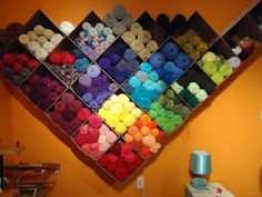 Using 12 x 12 boxes to organize yarn stash ~ FiBeR FaN-AnTiCs with Tammy ~