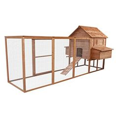 Specifications: Material: Fir construction solid wood Color: Natural wood With: Living house run backyard nest box window ramp Dimensions: 143.3''L × 43.3''D × 66.9''H Descriptions: These delux...