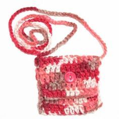 Crochet Pattern: Crossbody Pocket Purse ~~ My daughter and I did these for my grand nieces for Christmas. Only we used a lighter color, made them a little bit wider and the strap was made thicker as well. They Loved them!