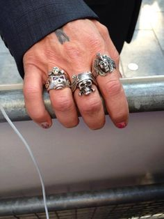Look at those rings and guess who?