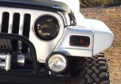97-06 Jeep Wrangler GTS Acrylic Smoke Headlight Turn Signal Covers 4pc GT0539S
