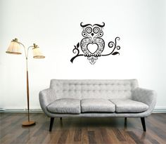 Owl Decal Owl Wall Decal Owl Tatoo Decal Owl Sticker by SBLDesign, $24.99