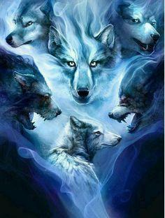 Many wolf spirits