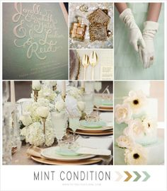 A bit too cold with just mint, white, and gold, but some warm tones will make it great