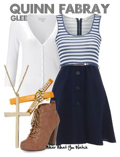 """""""Glee"""" by wearwhatyouwatch ❤ liked on Polyvore featuring moda, Monsoon, Ruby's Closet, Dorothy Perkins, Henri Bendel, River Island, television y wearwhatyouwatch"""