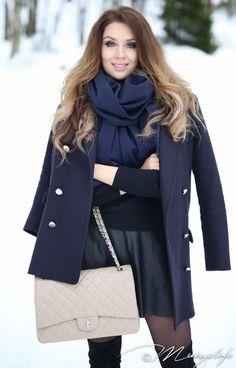 Instagram: @mungoanna / Details: http://www.mungolife.fi  / Zara, Chanel, Flap Bag, Leather skirt, Acne Studios, Canada scarf