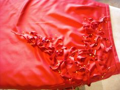 Detail of Red Skirt Prior to Stitching