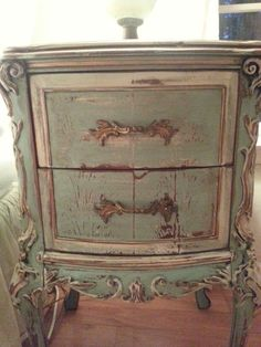 French bedside table painted by NKF..
