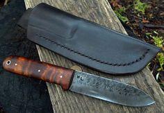 custom kephart knife..tiger maple handle by MLKnives