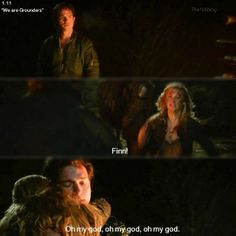 """S1 Ep12 """"We Are Grounders, Part 1"""" - Finn and Clarke...and I was like no no no no nooo."""