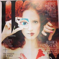 Jessica Chastain on the cover of W Magazine #fashion #wmagazine #georgecondo