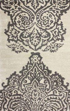 Contemporary 5' x 8' Grey Hand Tufted Area Rug MA96 contemporary-rugs