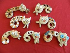 Yarn Crafts, Clay Crafts, Diy And Crafts, Crafts For Kids, Ceramic Animals, Clay Animals, Ceramic Art, Kids Clay, Clay Art Projects