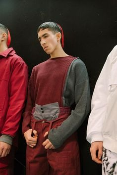 Backstage at Liam Hodges AW16