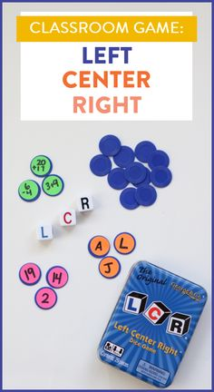 Left Right Center is a fun classroom game as is OR with an academic spin! See how to use this game in your classroom for a quick review of letters, sounds, numbers, or addition/subtraction!