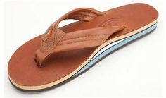 next flipflop related purchase; the dream flop. || RAINBOW Double Layer Classic Leather with Arch Support