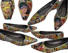 Archie Comic shoes - I made these back in 2006 and now comic book shoes are a cool thing.