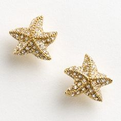 Factory pave starfish earrings