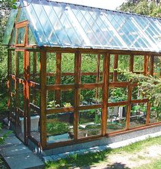 Greenhouse Frame, Greenhouse Gardening, Seasons Of The Year, Four Seasons, She Sheds, Conservatory, Garden Design, Cottage, Backyard