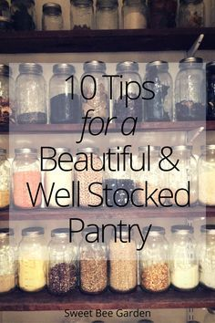 Come take a peek into one of the most cherished rooms in my home, my kitchen pantry! Read more for 10 ways to create your own beautiful and well organized pantry!