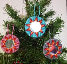 Native Beaded Christmas Tree Ornament by NativeAuthentics on Etsy, $18.00