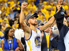 In February, Warriors superstar guard Stephen Curry (above) said that Trump was an asset '...