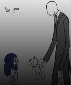 Sally and Slender man el puede ser malo pero en el fondo puede amar a una persona ...