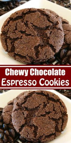 These Mexican Hot Chocolate Cookies could also be called Chocolate Snickerdoodles. A moist and tende Easy Cookie Recipes, Healthy Dessert Recipes, Gourmet Recipes, Sweet Recipes, Baking Recipes, Healthy Foods, Healthy Eating, Oreo Dessert, Cookie Desserts