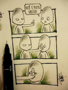 Foda-se... (Desenhos de um garoto solitário, por Naldo Junio)