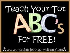 Preschool at home! :)  Tons of ways to teach your child the ABC's.  Also a link to a complete preschool curriculum that includes themes, bible stories, alphabet, numbers, shapes, lifeskills, etc.