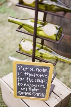 Adorable idea for the couple! After you finish a few bottles of our wine at Bluestem, of course :)