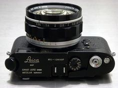 "A black-body Leica M4 with a Canon 50mm f/0.95 ""Dream"" lens modified to an M-bayonet mount"